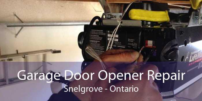 Garage Door Opener Repair Snelgrove - Ontario